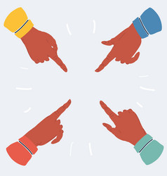Pointing finger on white background vector