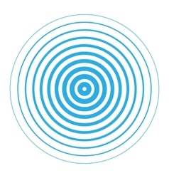 Radar screen concentric circle elements vector