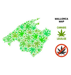 Royalty free cannabis leaves style spain mallorca vector