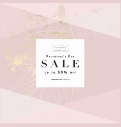 Sales promotion banners trendy blush pink gold vector