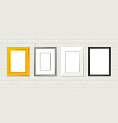 set various frames for pictures and photos on vector image