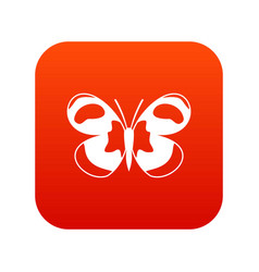 Spotted butterfly icon digital red vector