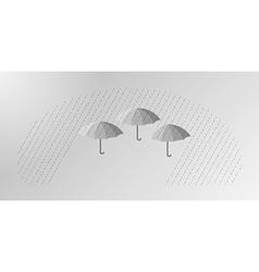 Three umbrellas vector