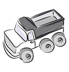 truck drawing on white background vector image