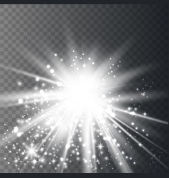 white glow light effect vector image