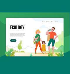 zero waste concept banner vector image