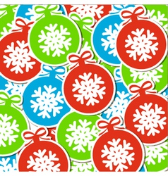 Christmas ball background Converted vector image