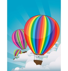 Colorful Hot Air Balloons5 vector image vector image