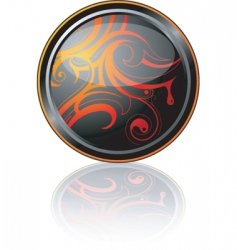decorative plate vector image vector image
