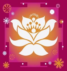 lotus yantra vector image vector image