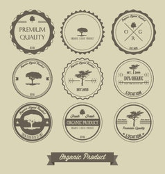 Premium quality organic product vintage label vector image vector image