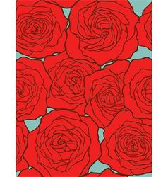 roses seamless floral background vector image vector image
