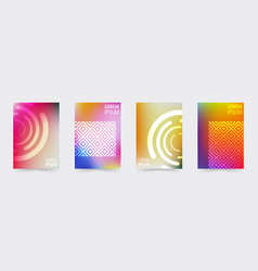 geometric covers template set vector image