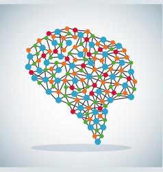 human brain science image vector image