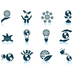 Set of Earth day icons vector image
