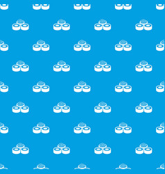 sushi pattern seamless blue vector image vector image