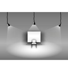 Black white photo studio vector