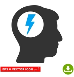 Brain Electric Shock Eps Icon vector image vector image