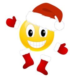 christmas emoticon vector image