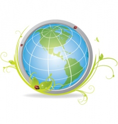 ecological globe vector image vector image