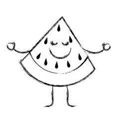 happy fruits design vector image vector image