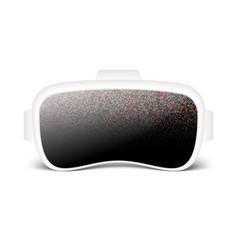 virtual reality smartglasses or helmet vector image