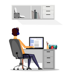 248 guy at work vector image vector image