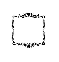 decorative frame floral romantic border cute image vector image vector image