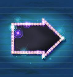 marquee arrow symbol vector image