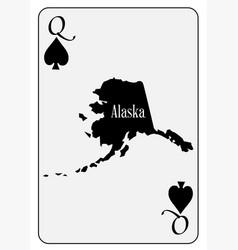 usa playing card queen spades vector image