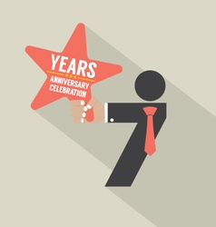 7th Years Anniversary Typography Design vector image