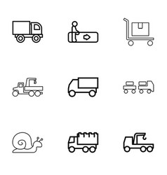 9 moving icons vector image