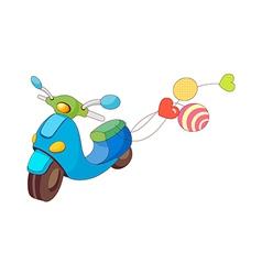 A running scooter vector