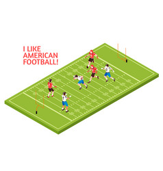 american football isometric vector image