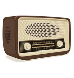 an old radio receiver vector image