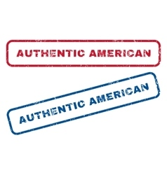 Authentic American Rubber Stamps vector image