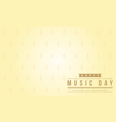 Background style world music day flat vector