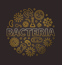 Bacteria round colorful symbol made with different vector