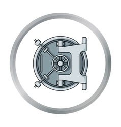 Bank vault icon in cartoon style isolated on white vector
