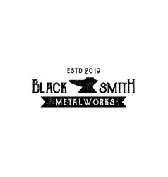 blacksmith metalworks logo design inspiration vector image