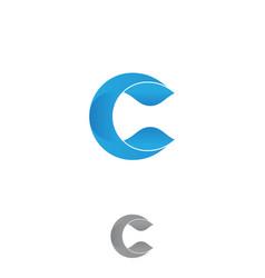 Blue letter c vector