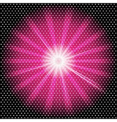 Burst rays dark purple background with halftone vector image