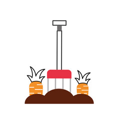 Carrot cultivation isolated icon vector