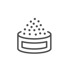 caviar line outline modern icon vector image