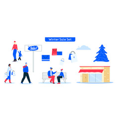 character shopping on vector image
