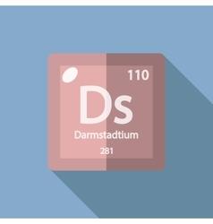 Chemical element Darmstadtium Flat vector
