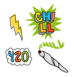 Chill set vector