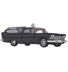 Classic funeral car vector
