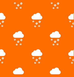 cloud and hail pattern seamless vector image