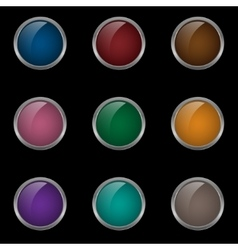 Colored button set vector